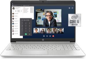 HP 15-Inch FHD Laptop, 10th Gen Intel Core i5-1035G1, 8 GB RAM, 256 GB Solid-State Drive, Windows 10 Home